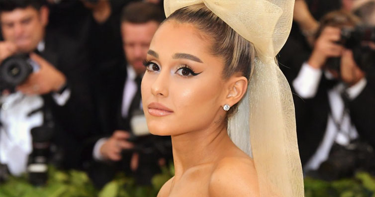 "Ariana Grande and her ""Sistine Chapel"" gown"