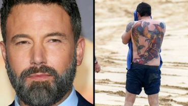 Ben Affleck's Back Tattoo