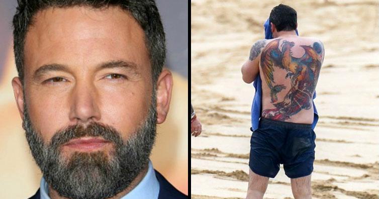 Ben Affleck's Back Tattoo