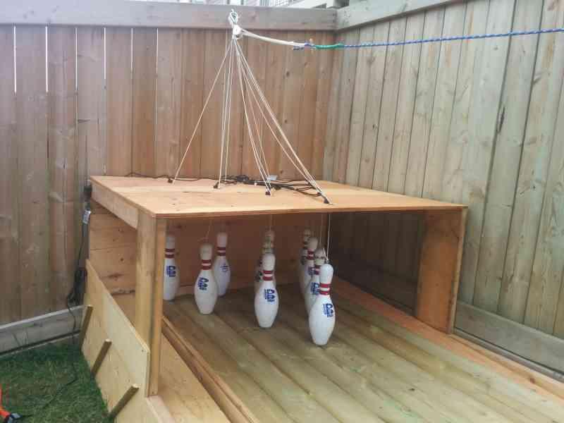 DIY Backyard Bowling Alley