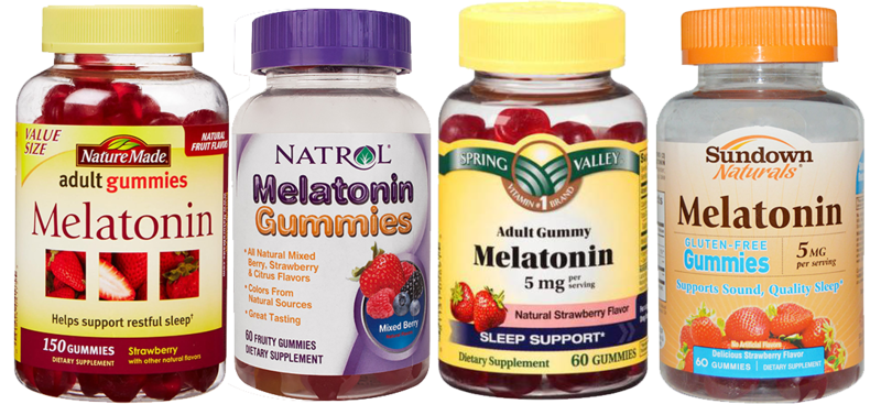 melatonin-laced gummie bears