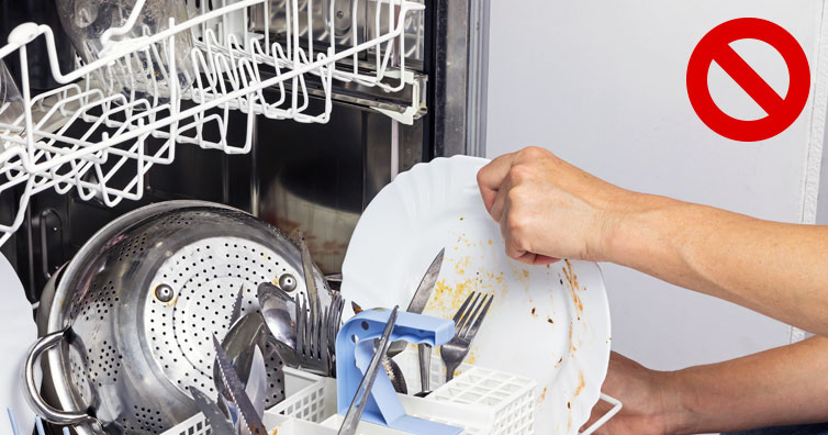 don't rinse dishes